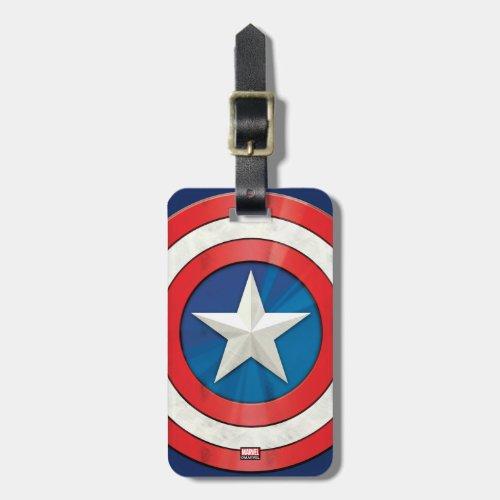 Avengers Classics  Captain America Brushed Shield Bag Tag