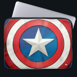"Avengers Classics | Captain America Brushed Shield Computer Sleeve<br><div class=""desc"">Check out this brushed metal textured graphic of Captain America&#39;s shield.</div>"