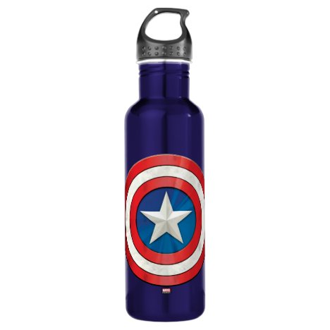 Avengers Classics | Captain America Brushed Shield Stainless Steel Water Bottle