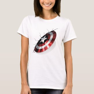 Avengers Classics | Captain America Shield Struck T-Shirt