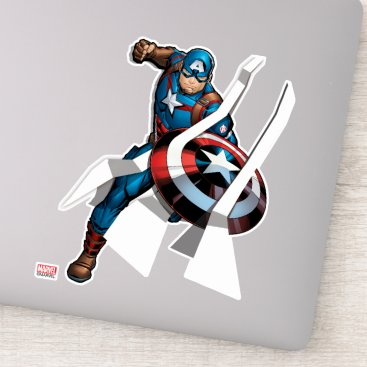 Avengers Classics | Captain America With Stripes Sticker