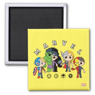 Avengers Classics   Dual Identity 2 Inch Square Magnet