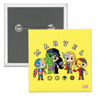 Avengers Classics   Dual Identity Pinback Button