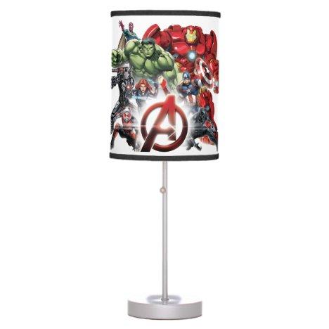 Avengers Classics   Glowing Logo Avengers Group Table Lamp