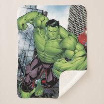 Avengers Classics | Hulk Charge Sherpa Blanket