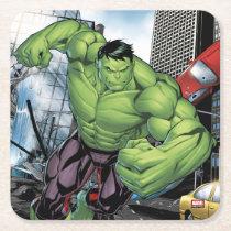Avengers Classics | Hulk Charge Square Paper Coaster