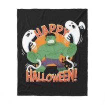 "Avengers Classics | Hulk ""Happy Halloween"" Fleece Blanket"