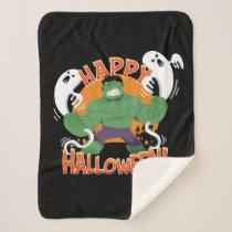 "Avengers Classics | Hulk ""Happy Halloween"" Sherpa Blanket"