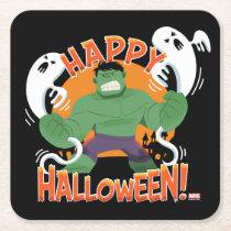 "Avengers Classics | Hulk ""Happy Halloween"" Square Paper Coaster"