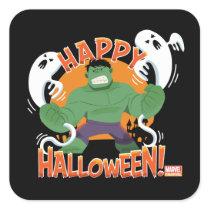 "Avengers Classics | Hulk ""Happy Halloween"" Square Sticker"