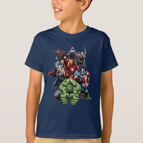 Avengers Classics  Hulk Leading Avengers T_Shirt