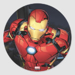 Avengers Classics | Iron Man Flying Forward Classic Round Sticker
