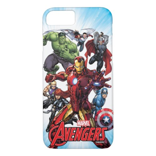 Avengers Classics   Iron Man Leading Avengers Phone Case