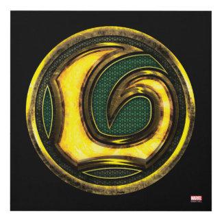 Avengers Classics | Loki Symbol Panel Wall Art