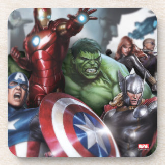 Avengers Classics | Poised For Battle Drawing Beverage Coaster