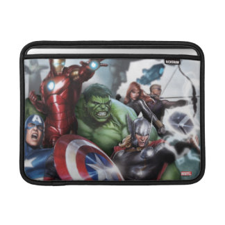 Avengers Classics | Poised For Battle Drawing MacBook Sleeve