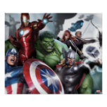 Avengers Classics   Poised For Battle Drawing Poster