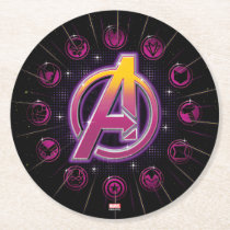 Avengers Classics | Stellar Avengers Icons Round Paper Coaster
