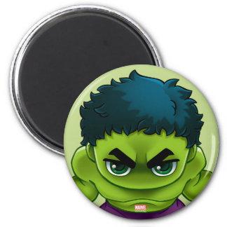 Avengers Classics   The Hulk Stylized Art 2 Inch Round Magnet
