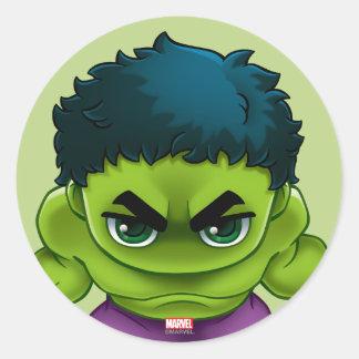 Avengers Classics   The Hulk Stylized Art Classic Round Sticker