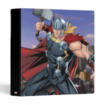 Avengers Classics | Thor Leaping With Mjolnir 3 Ring Binder
