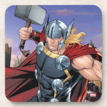 Avengers Classics | Thor Leaping With Mjolnir Beverage Coaster