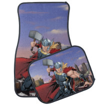 Avengers Classics | Thor Leaping With Mjolnir Car Floor Mat