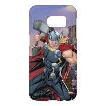 Avengers Classics | Thor Leaping With Mjolnir Samsung Galaxy S7 Case