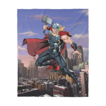 Avengers Classics | Thor Leaping With Mjolnir Fleece Blanket