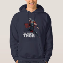 Avengers Classics | Thor Leaping With Mjolnir Hoodie