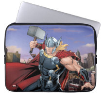 Avengers Classics | Thor Leaping With Mjolnir Laptop Sleeve