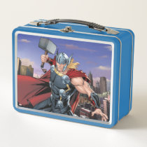 Avengers Classics | Thor Leaping With Mjolnir Metal Lunch Box