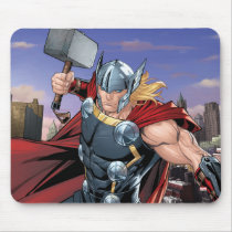Avengers Classics | Thor Leaping With Mjolnir Mouse Pad