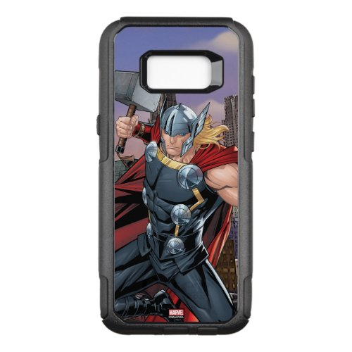 Avengers Classics   Thor Leaping With Mjolnir Phone Case