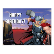 Avengers Classics | Thor Leaping With Mjolnir Postcard