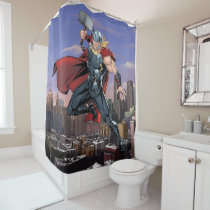 Avengers Classics | Thor Leaping With Mjolnir Shower Curtain