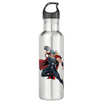 Avengers Classics | Thor Leaping With Mjolnir Stainless Steel Water Bottle