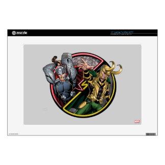 "Avengers Classics   Thor Versus Loki 15"" Laptop Skin"