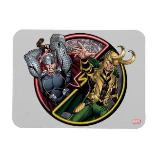Avengers Classics | Thor Versus Loki Rectangular Photo Magnet