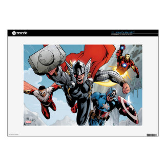 Avengers Classics | Traversing Through Snowy Mount Decals For Laptops