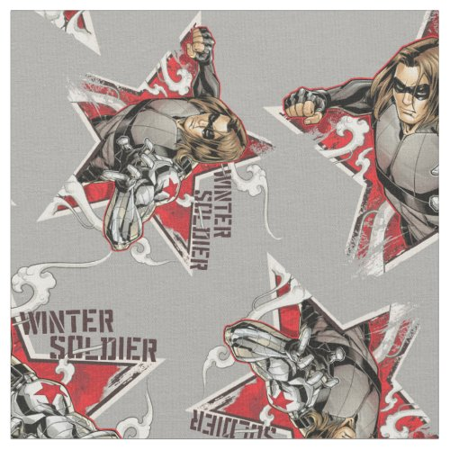 Avengers Classics | Winter Soldier Star Graphic Fabric