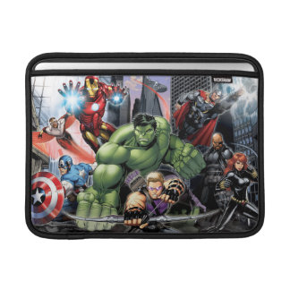 Avengers Defending City MacBook Sleeve