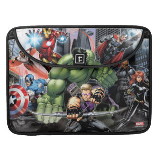 Avengers Defending City Sleeve For MacBooks