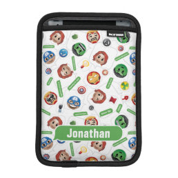 Avengers Emoji Characters Text Pattern Sleeve For iPad Mini