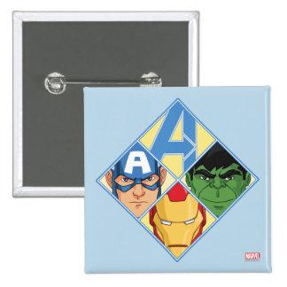 Avengers Face Badge Pinback Button