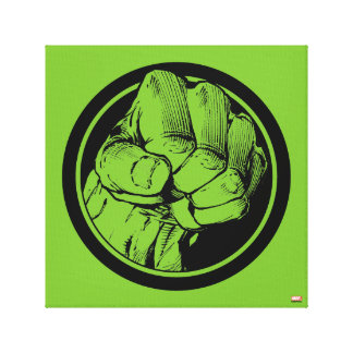 Avengers Hulk Fist Logo Canvas Print