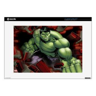 """Avengers Hulk Smashing Through Bricks 15"""" Laptop Decal"""