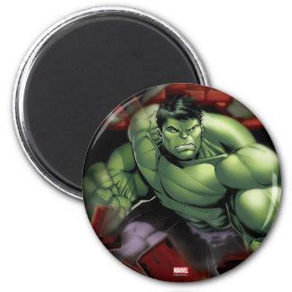 Avengers Hulk Smashing Through Bricks 2 Inch Round Magnet