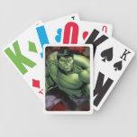 Avengers Hulk Smashing Through Bricks Bicycle Playing Cards