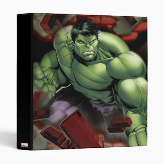 Avengers Hulk Smashing Through Bricks Binder